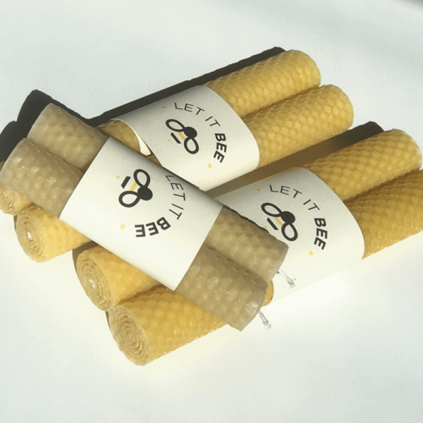 3 pairs of Let It Bee Pure Beeswax Candles