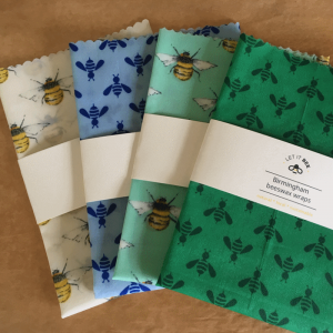 4 different colour Beeswax Food Wraps