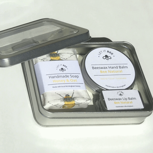 Open Skincare Gift Tin in Natural
